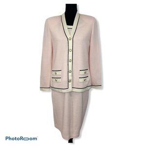 St. John Collection 3 Piece Suit Size 6 /Small Tan